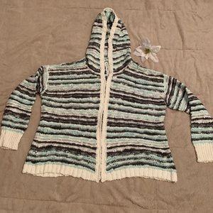 Bethany Mota hooded cardigan with stripes
